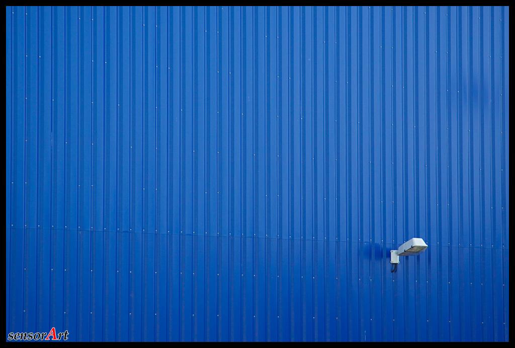Blau mit Licht