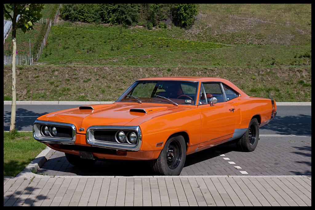 Orange Dodge SuperBee