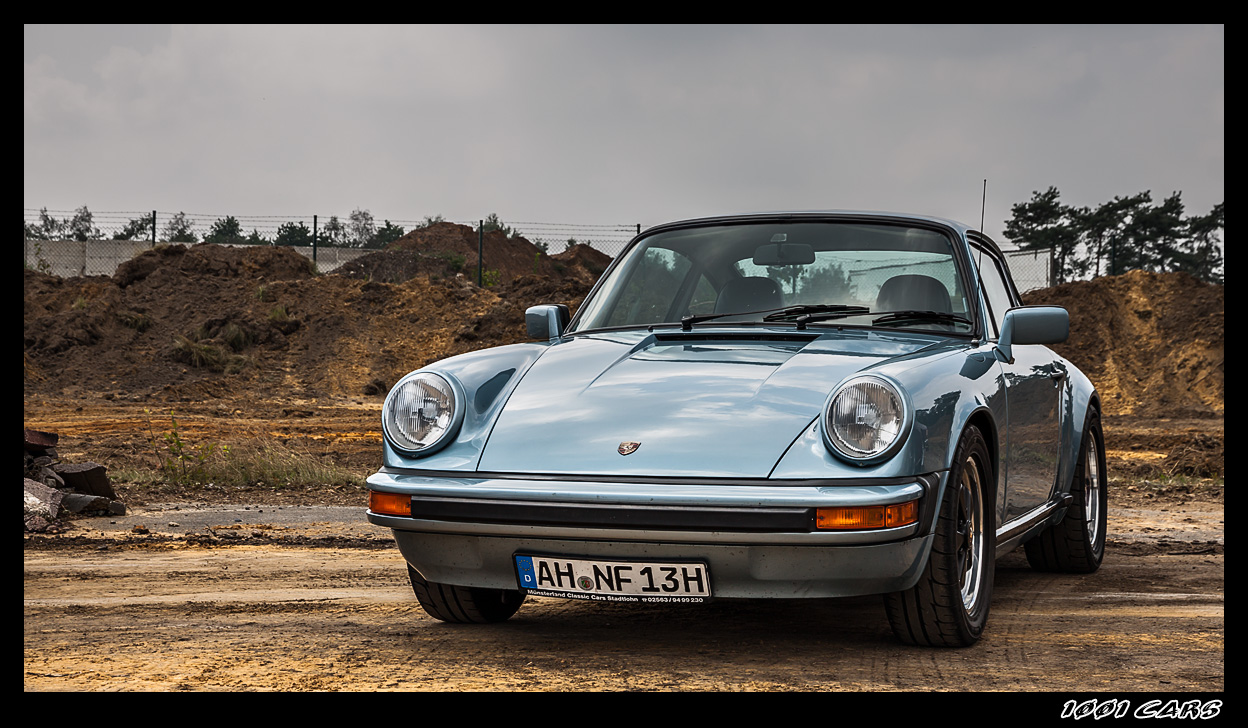 Porsche in light-blue