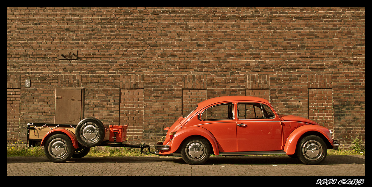 Käfer mit Anhänger