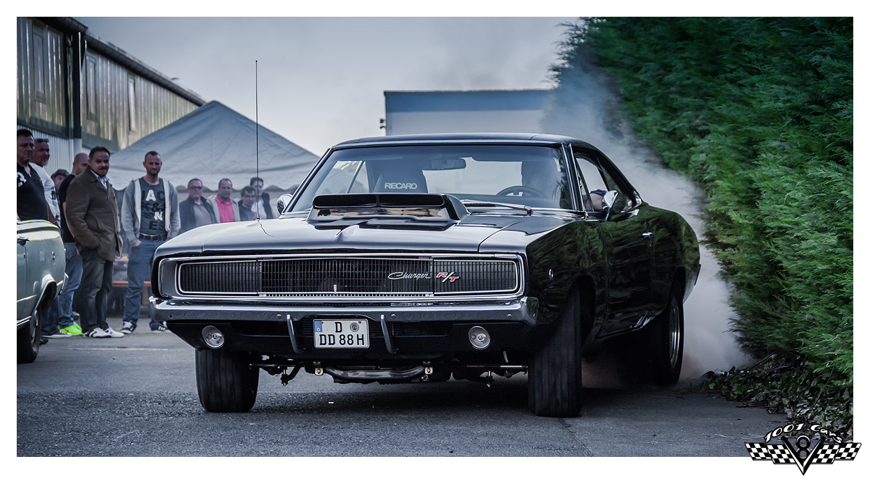 A Charger's burnin' out