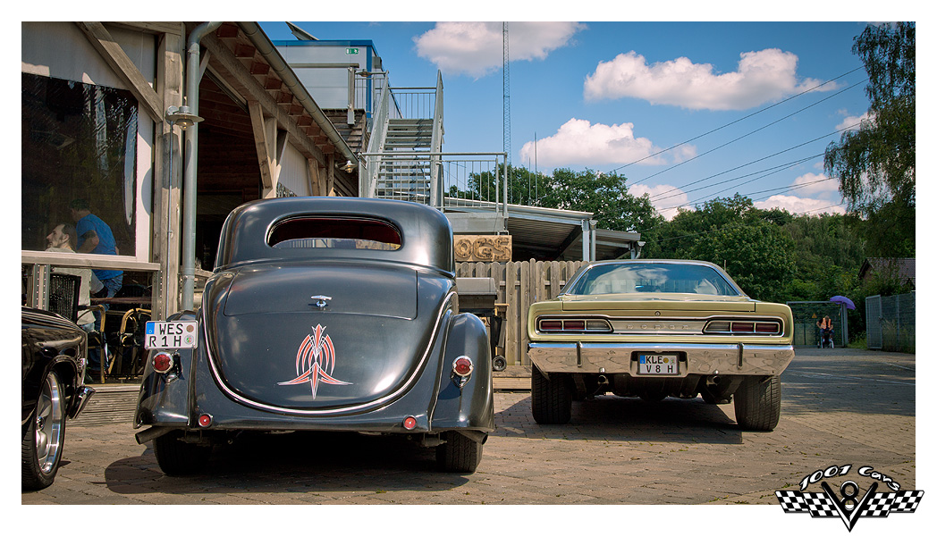 Dodge and Old Coupe