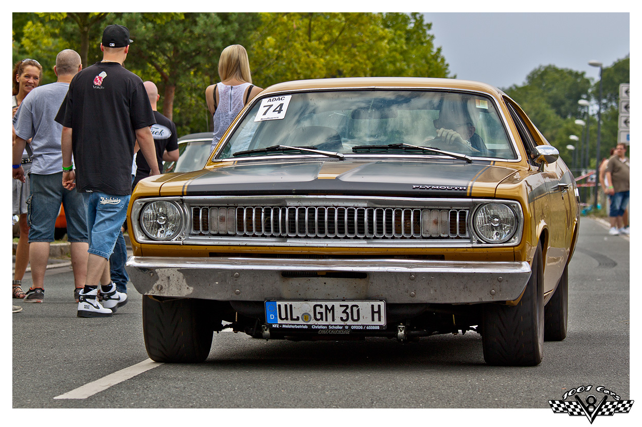 Golden Plymouth Duster